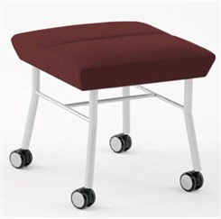 Mystic 1 Seat Bench w/ Casters in Standard Fabric or Vinyl
