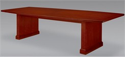 10' Sunburst Cherry Conference Table