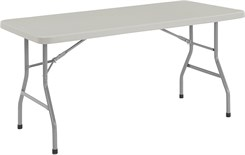1000 lb. Capacity Resin Folding Tables - 30&quot; x 60&quot; Resin Folding Table - Other Sizes Available.