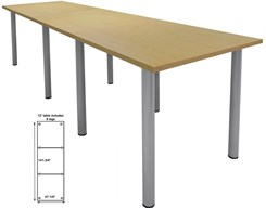 12' Standing Height Conference Table