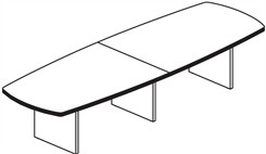 12' Convex Conference Table