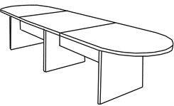 12′ Maple Laminate Conference Table