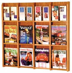 12 Magazine/24 Brochure Pocket Rack