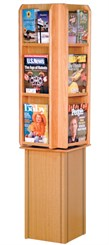 12 Pocket Revolving Literature Rack