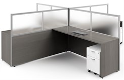 Basics Custom Cubicle - 12' x 12' / 4-Person