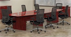14' Boat-Shaped Conference Table
