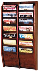 14 Magazine Pocket Wall Rack