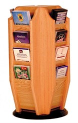 16 Brochure Pocket Rotating Rack