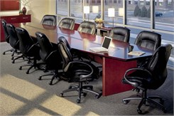18' Boat-Shaped Conference Table