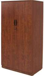 "Cherry Laminate 66""H 2-Door Locking Storage Cabinet"