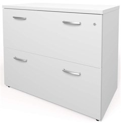White 2-Drawer Lateral File