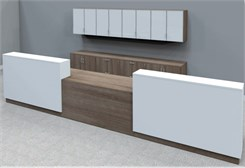 Contrasts Custom 2-Person Reception Desk  - 16'W Desk
