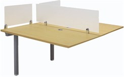 "2-Person Add-On Workstation w/ 48"" x 24"" Worksurfaces"