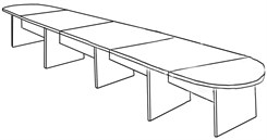 20′ Maple Laminate Conference Table
