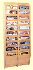 20 Magazine Pocket Wall Rack