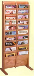 20 Pocket Freestanding Magazine Rack