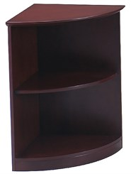 2-Shelf 1/4 Round Bookcase