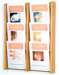 6 Pocket Magazine Wall Rack