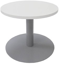 """24"""" Round x 19""""H Metal Disc Base Coffee Table"""