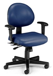 24-Hour Multi-Shift Chair w/ Arms in Antimicrobial Vinyl