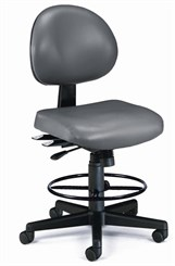 "24-Hour Multi-Shift Stool in Antimicrobial Vinyl w/ 23""-27"" or 27""-31"" Seat Height"