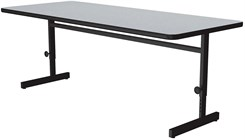 "24"" x 72"" Adjustable Height Computer Station"