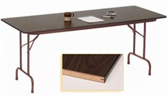 "24"" X 72"" Heavy-Duty Plywood Core Folding Table"
