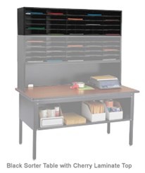 Modular Mailroom System- 25-Pocket Eye-Level Stack-able Sorter