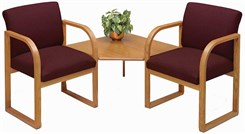 2 Arm Chairs w/Corner Table in Upgrade Fabric or Healthcare Vinyl