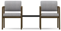 2 Chairs w/Connecting Center Table in Standard Fabric or Vinyl