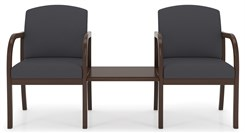 2-Arm Chairs w/Center Table