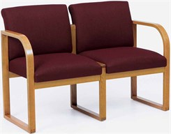 2-Seat Loveseat in Upgrade Fabric or Healthcare Vinyl
