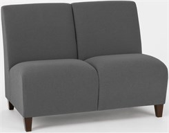 Siena 2 Seat Armless Sofa in Upgrade Fabric or Healthcare Vinyl