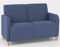 Siena 2 Seat Sofa in Standard Fabric or Vinyl