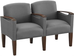 2 Seats w/Center Arm in Standard Fabric or Vinyl
