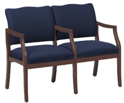 Franklin 2 Seats w/ Center Arm in Standard Fabric or Vinyl