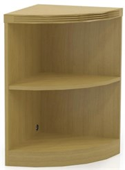 2 Shelf Quarter Round Corner Bookcase