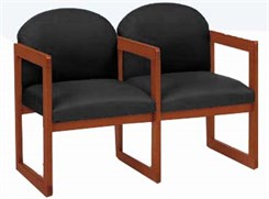 2-Seats w/Armrest in Upgrade Fabric or Healthcare Vinyl