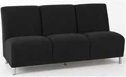 3 Seat Armless Sofa in Upgrade Fabric or Healthcare Vinyl