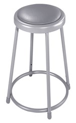 "30"" Fixed Height Heavy-Duty Padded Lab Stool - 300-lb Weight Capacity"