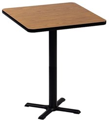 "30"" Square Bar Stool Height Table"