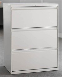 "30""W 3-Drawer Lateral File (with lock)"