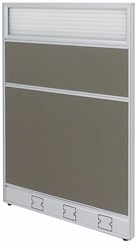 "30""W x 48""H Single Raceway Office Panel w/Glass Window"