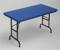 "30"" x 60"" Adjustable Height Resin Folding Table"
