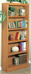 "30"" x 72"" Midas Oak Bookcase"