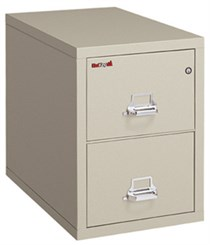 "18""W x 31""D 2-Drawer Fireproof Vertical Letter-Sized File"