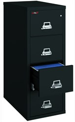 "18""W x 31""D 4-Drawer Fireproof Vertical Letter-Sized File"