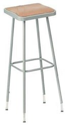 "31""-39"" Square Adjustable Height Heavy-Duty Lab Stool"