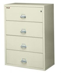"31""W 4-Drawer FireKing Fireproof Lateral File"