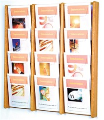 12 Pocket Magazine Wall Rack